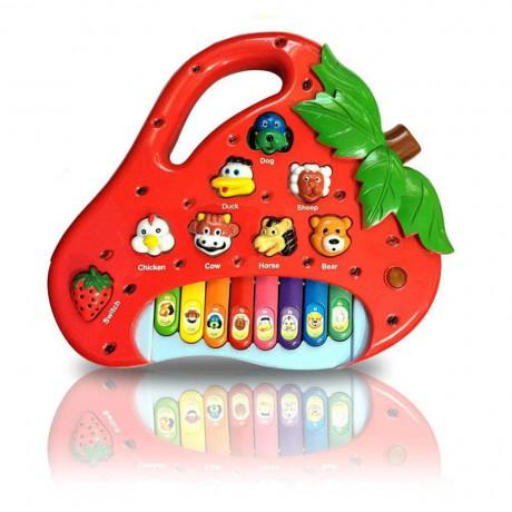 Teclado/Piano Musical Infantil Morango - Shopping OI BH