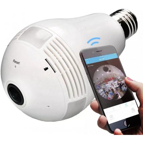 Lâmpada Espiã LP 360º HD Panorâmica Wifi B13-l -Shopping Oi Bh