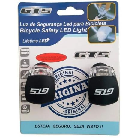 Sinalizador Gts Bike Com 2 Leds Luz Noturna Vermelho Branco - Shopping Oi BH