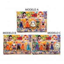 1 Cartela Com 5 Bonecos Dragon Ball Articulado 15 Cm - Shopping OI BH