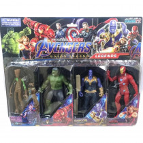 Kit Cartela com 4 bonecos Avengers Vingadores - Shopping Oi bh