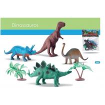 Kit 4 Dino World Dinossauro Borracha Miniatura Bee Toys 0660 - Shopping OI BH