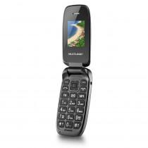 Celular para idoso Flip Up Dual Chip Mp3 Preto Multilaser - shopping oi bh