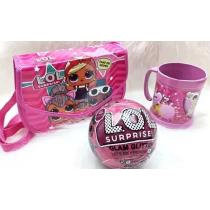 Lool Kit Menina Bolsa, copo E Bola Lol Surpresa - Shopping OI BH