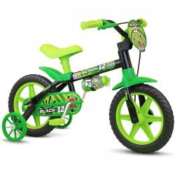 Bicicleta Infantil Menino Nathor Black Aro 12