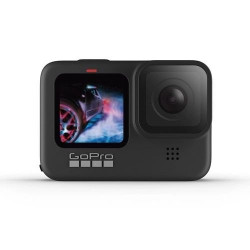 "Câmera Digital e Filmadora GoPro Hero9 Black 20MP Vídeo 5K LCD Display 2.27"""