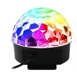 Meia Bola Maluca Led Cristal Bluetooth