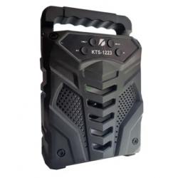 Mini Caixa De Som Kts-1223 Fm Led Bluetooth 5w